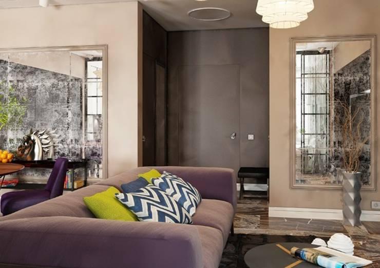 Гостиная в стиле современного ар деко: Гостиная в . Автор – Павел Белый и дизайнеры
