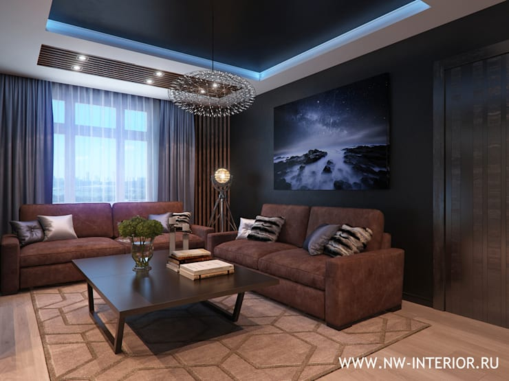 Дизайн квартиры в ЖК Доминион:  в . Автор – дизайн-студия Nw-interior