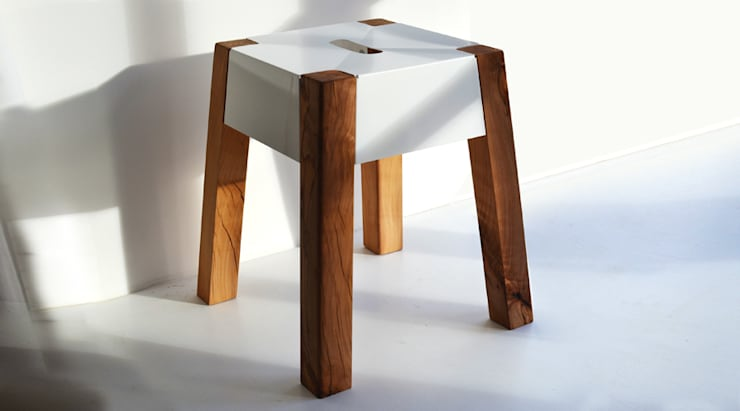 STORM FELLED BEECH STOOL:  Dining room by Jam Furniture