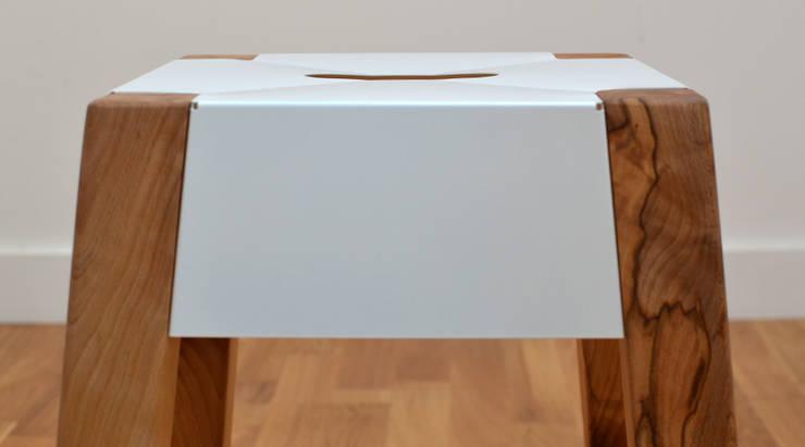 STORM FELLED BEECH STOOL:  Living room by Jam Furniture