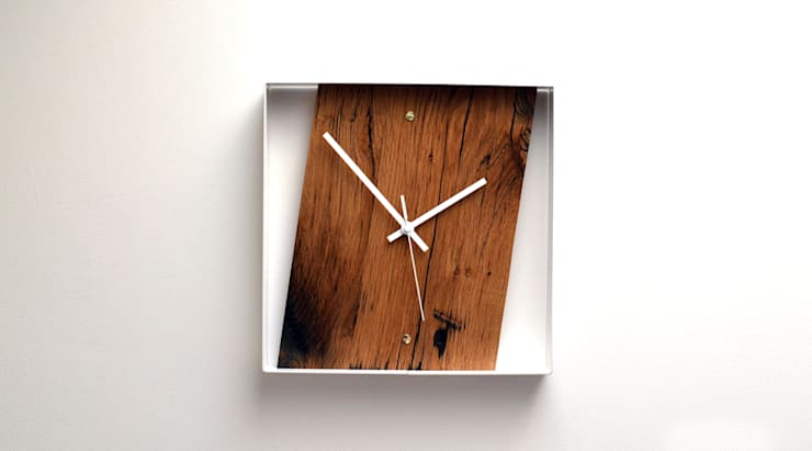 RECLAIMED FRENCH OAK WALL CLOCK:  Household by Jam Furniture