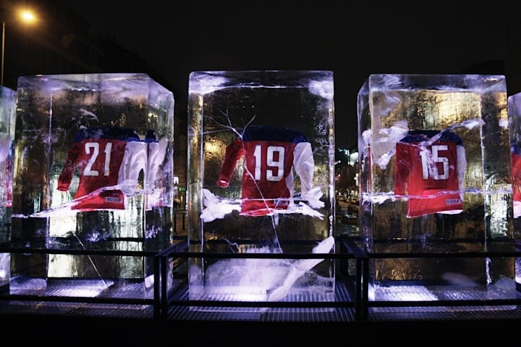 Ice blocks for NIKE:  Commercial Spaces by studio deFORM