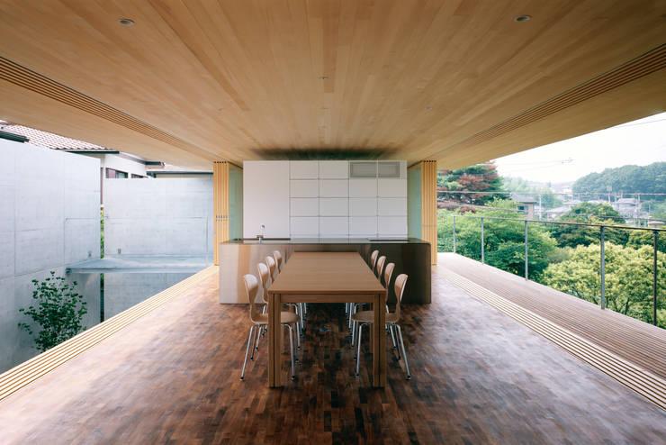 ห้องนั่งเล่น โดย 栗原隆建築設計事務所, โมเดิร์น