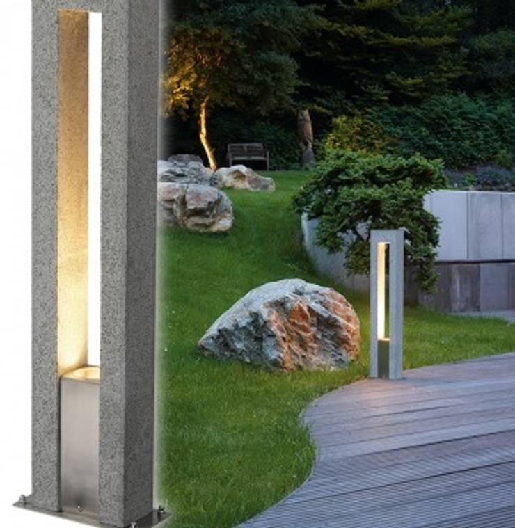 Trend Aydınlatma / Kazancı Aydınlatma – Arrock Granit Taş Bollard:  tarz Bahçe
