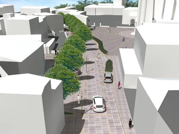 Piazza SS Redentore – Sarnico (BG):  in stile  di Studio Cadei Associati