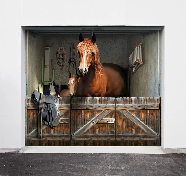 """Garagenplane  """"Pferdebox"""":  Garage/Schuppen von Style-Your-Garage.com"""