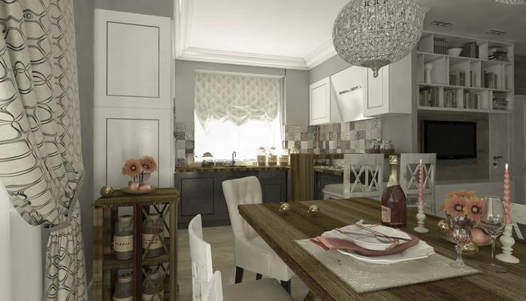организация пространства в таунхаусе: Кухни в . Автор – Makhrova Svetlana,