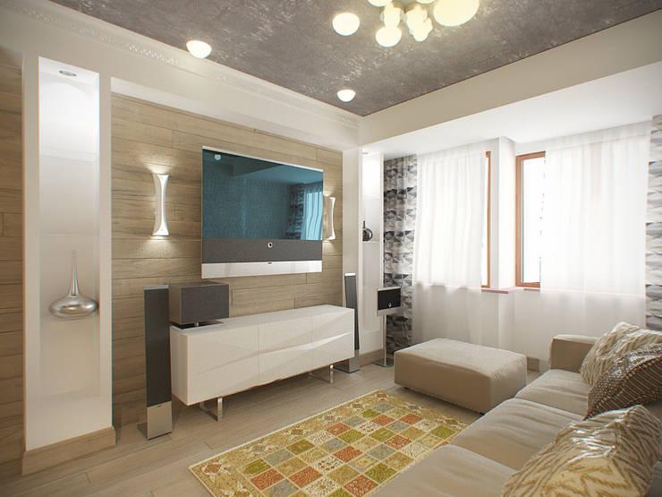 квартира в теплых тонах: Гостиная в . Автор – Makhrova Svetlana