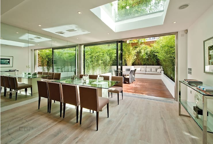Chelsea Family House: modern Dining room by Black and Milk | Interior Design | London