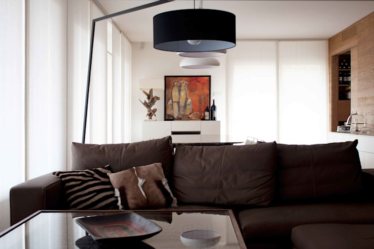 Projekty,  Salon zaprojektowane przez davide petronici | architettura