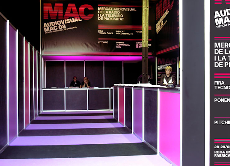 Audiovisual MAC / Environmental design: Ferias de estilo  de KXdesigners