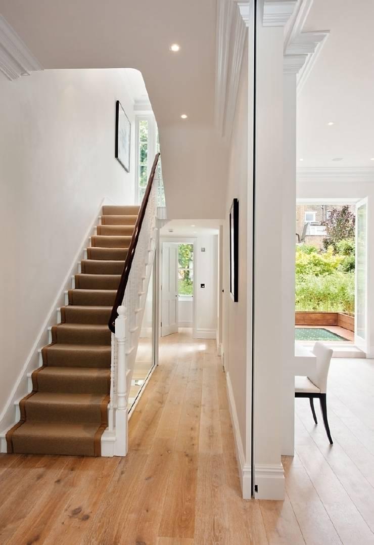 Chelsea Family House:  Corridor & hallway by Black and Milk | Interior Design | London