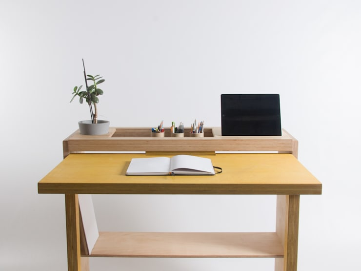 Drop-Leaf Tablet Desk: minimalistic Study/office by Bee9