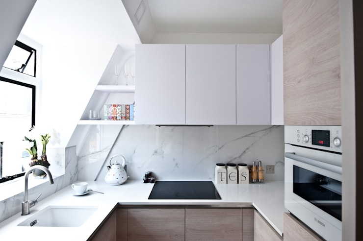 City Pied a Terre: modern Kitchen by Black and Milk | Interior Design | London