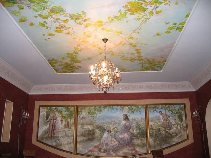 роспись потолка: Спальни в . Автор – Абрикос