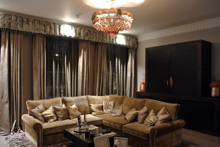 Luxury London townhouse:  Living room by Inspire Audio Visual