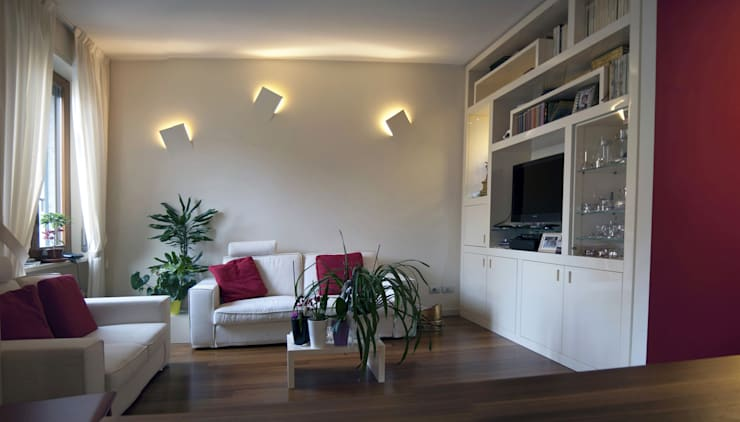 soggiorno: Soggiorno in stile in stile Moderno di SENSIBILE DE ROSALES