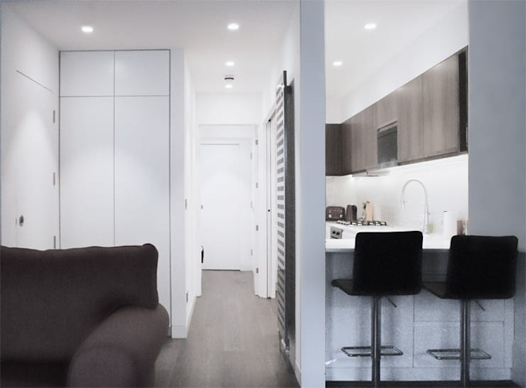 Corridor and Kitchen:  Kitchen by Salvatore catapano Architects