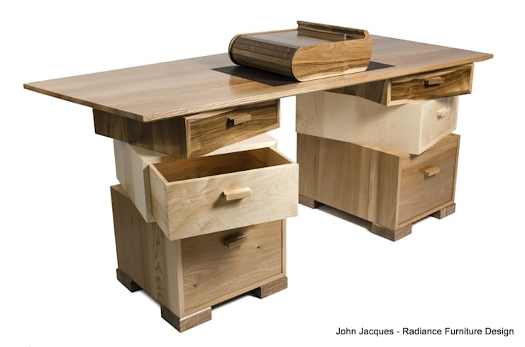 Magnetic Stack Desk with Fitted Humidor:  Study/office by Radiance Furniture Design