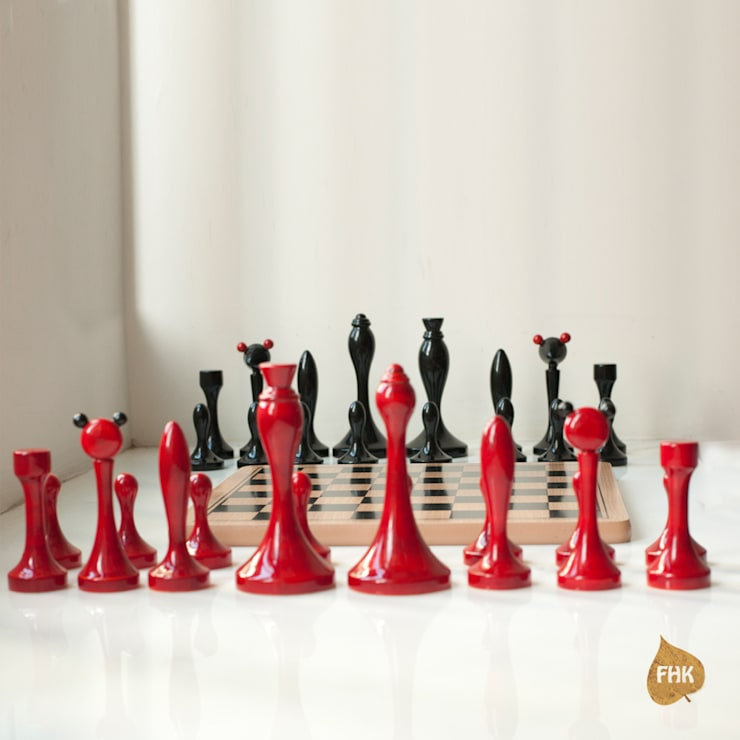 Chess - Red And Indigo:  Living room by The House of Folklore