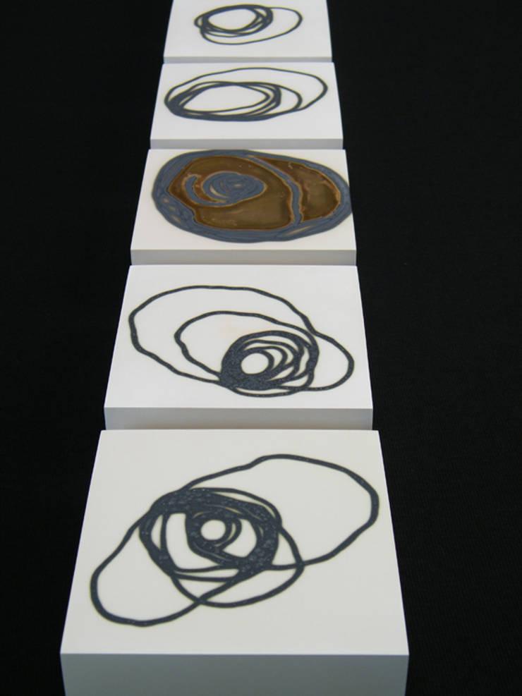 Signals of life - E - Composition   I   and  II:  Kunst  door Marc Verbruggen - ceramic art