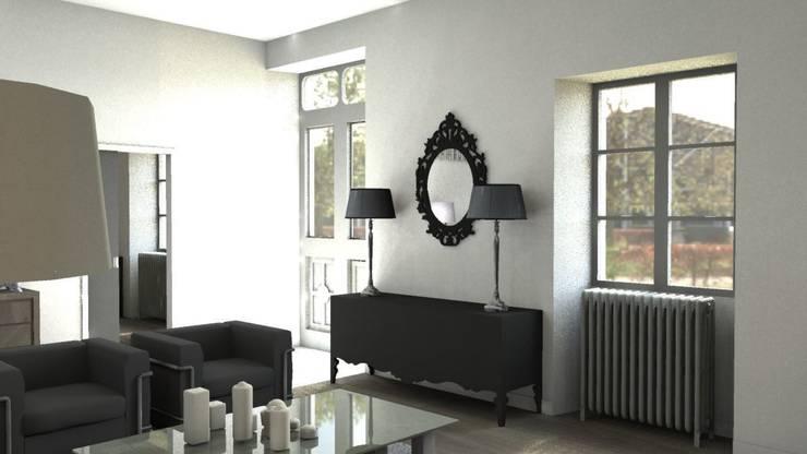 Rénovation d'un appartement à Biarritz: Salon de style  par GAEL DEVINCK AGENCE FSA