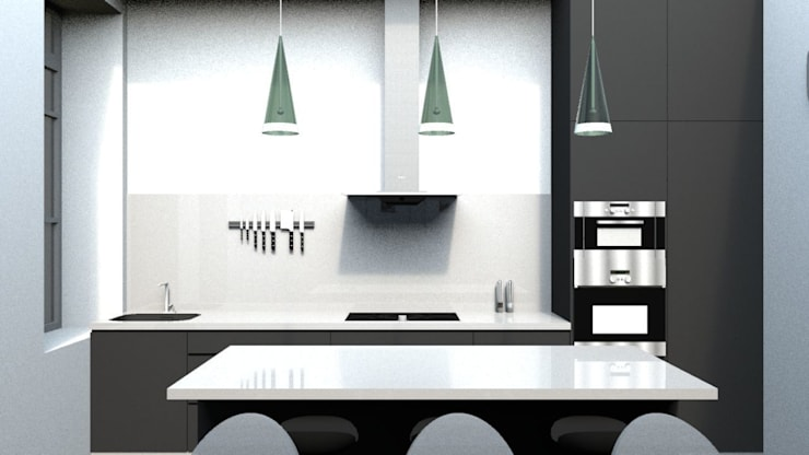 Kitchen by GAEL DEVINCK AGENCE FSA