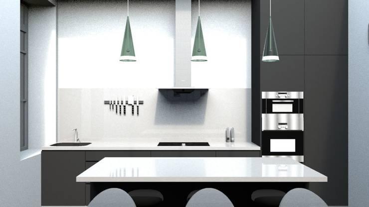 Rénovation d'un appartement à Biarritz: Cuisine de style  par GAEL DEVINCK AGENCE FSA