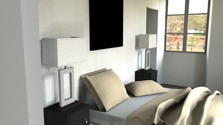 Rénovation d'un appartement à Biarritz: Chambre de style  par GAEL DEVINCK AGENCE FSA