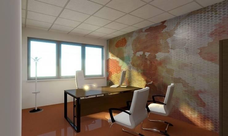 Render ufficio direzionale: Complessi per uffici in stile  di OGARREDO, Moderno