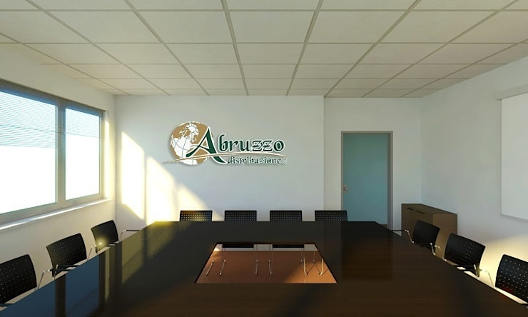 Render sala riunioni: Complessi per uffici in stile  di OGARREDO, Moderno