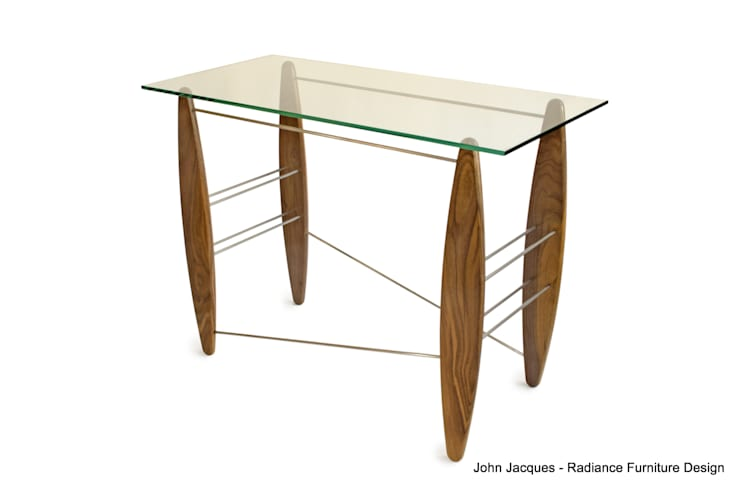 Surf's Up Walnut Console Table:  Corridor, hallway & stairs by Radiance Furniture Design