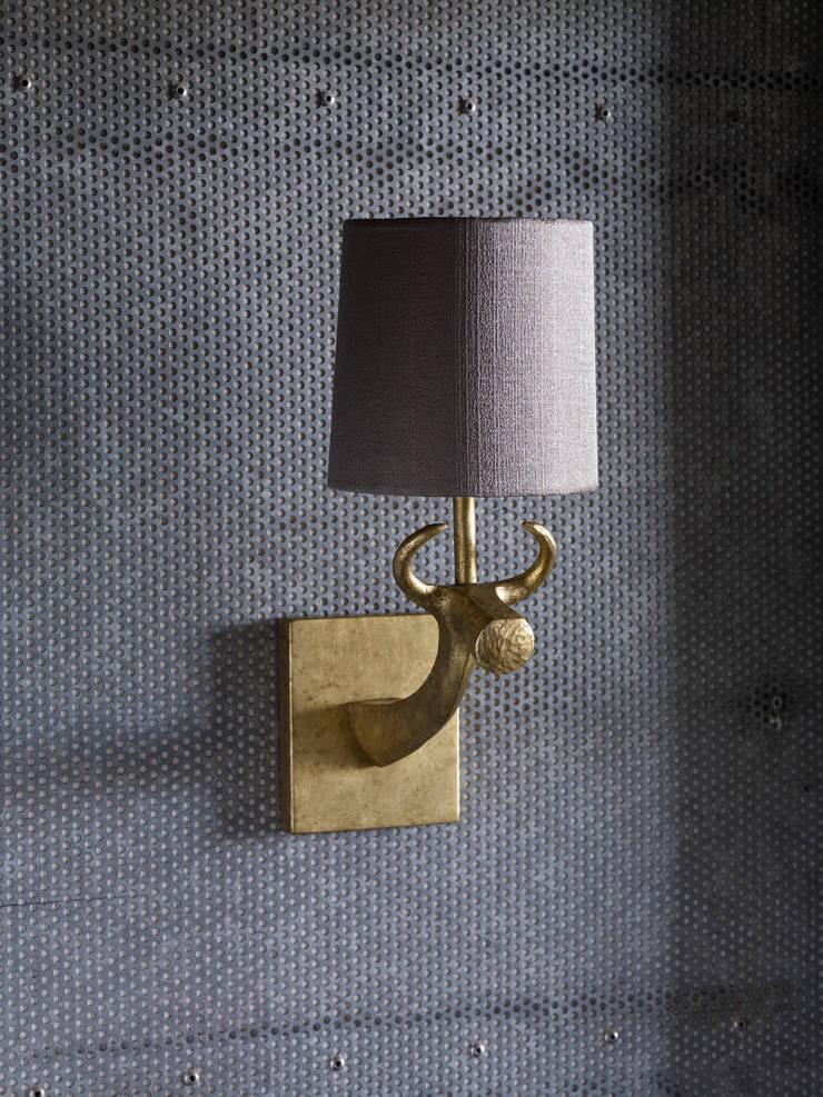 Cow Wall Light - Mister Smith interiors:  Corridor, hallway & stairs by Mister Smith Interiors