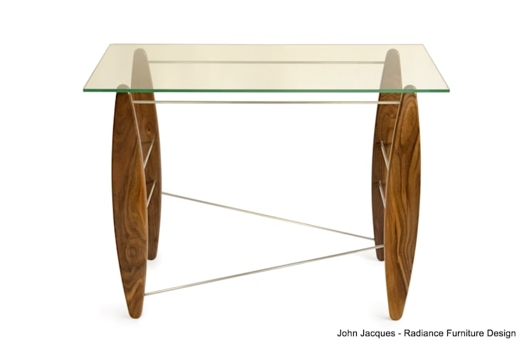 Surf's Up Walnut Console Table:  Dining room by Radiance Furniture Design