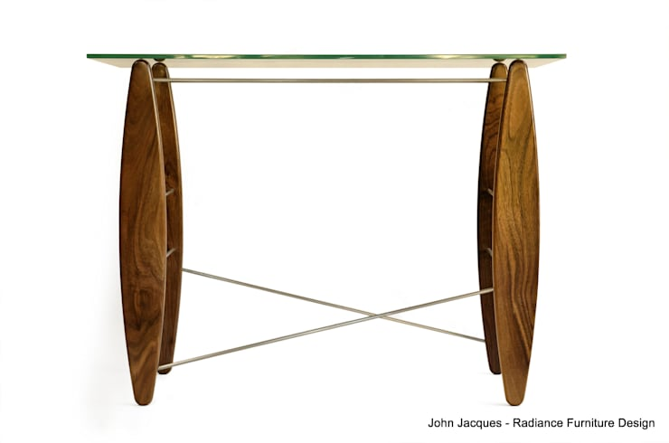 Surf's Up Walnut Console Table:  Office spaces & stores  by Radiance Furniture Design