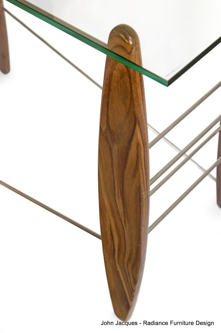 Surf's Up Walnut Console Table:  Study/office by Radiance Furniture Design