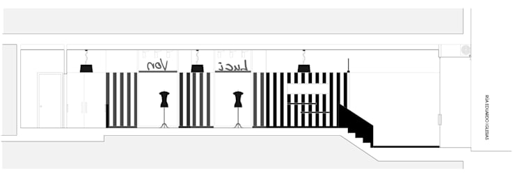 Luci Von. Local comercial para tienda de ropa :  de estilo  de Estudio de Arquitectura Sra.Farnsworth