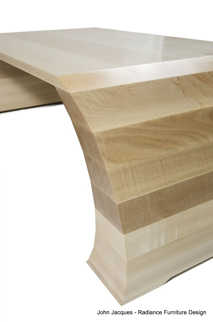 Strata Ripple Sycamore Coffee Table:  Bedroom by Radiance Furniture Design