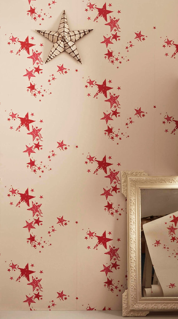 Star Wallpaper:  Walls & flooring by Mister Smith Interiors