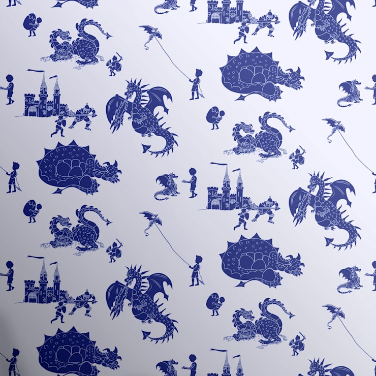 Dragons wallpaper Mister Smith Interiors:  Nursery/kid's room by Mister Smith Interiors