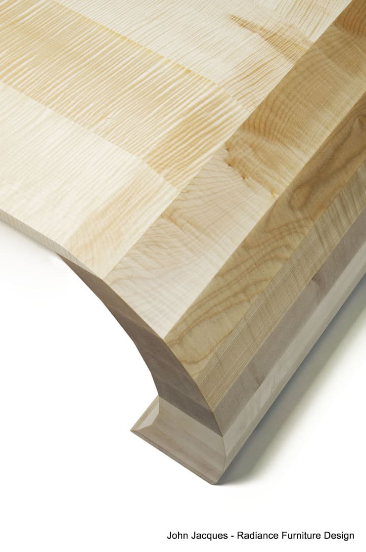 Strata Ripple Sycamore Coffee Table:  Living room by Radiance Furniture Design