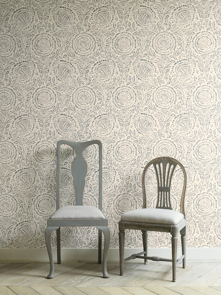 GP&J Baker Wallpaper:  Walls & flooring by Mister Smith Interiors