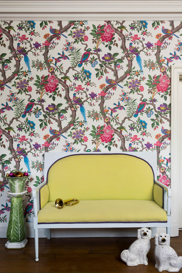 Cole & Son Wallpaper - Mister Smith interiors:  Walls & flooring by Mister Smith Interiors