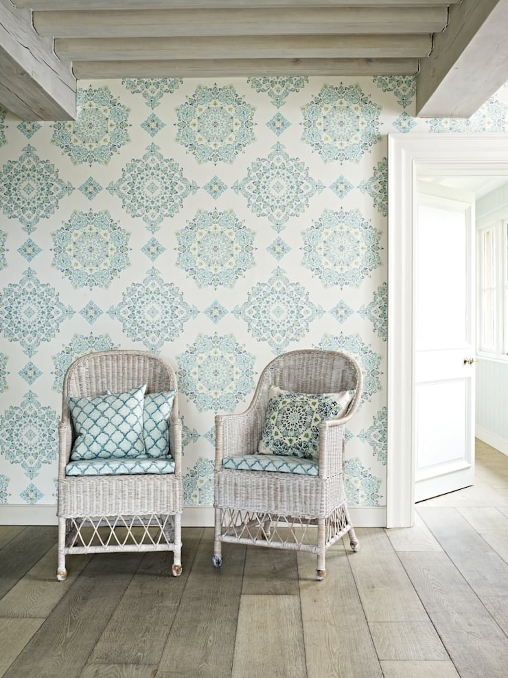 GP&J Bakers wallpaper:  Walls & flooring by Mister Smith Interiors