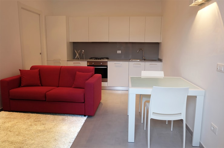 Appartamento 1: Soggiorno in stile in stile Moderno di Elisa Rizzi architetto