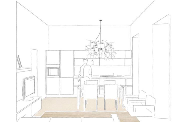 Appartamento 2:  in stile  di Elisa Rizzi architetto,