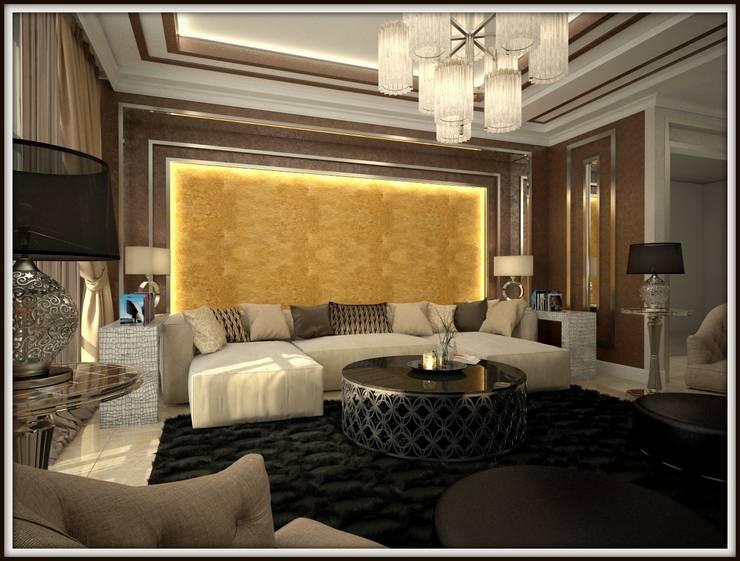 Дизайн-проект гостиной :  в . Автор – PLAN