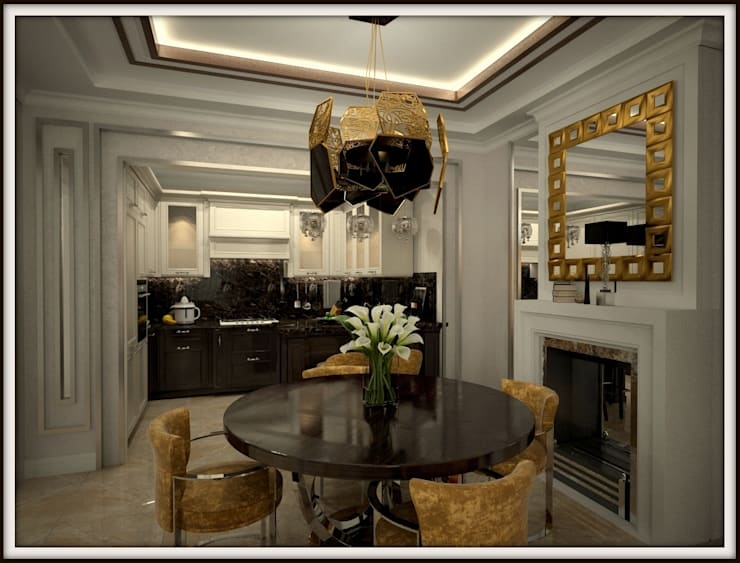 Дизайн-проект гостиной, столовая зона:  в . Автор – PLAN