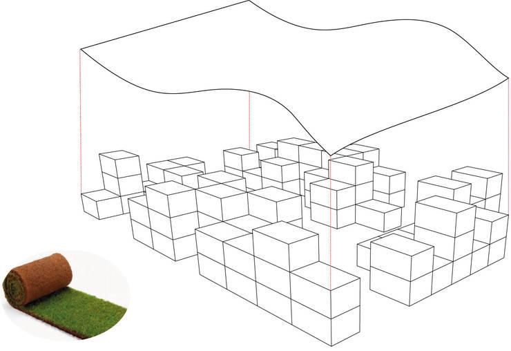 Giardino in cassetta: Giardino in stile  di alkostudio, Eclettico