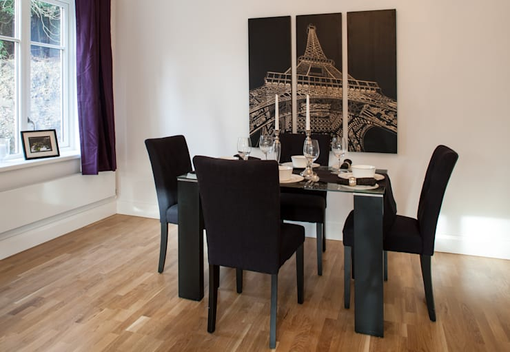 Show flat in Ascot, UK:  Dining room by Lujansphotography